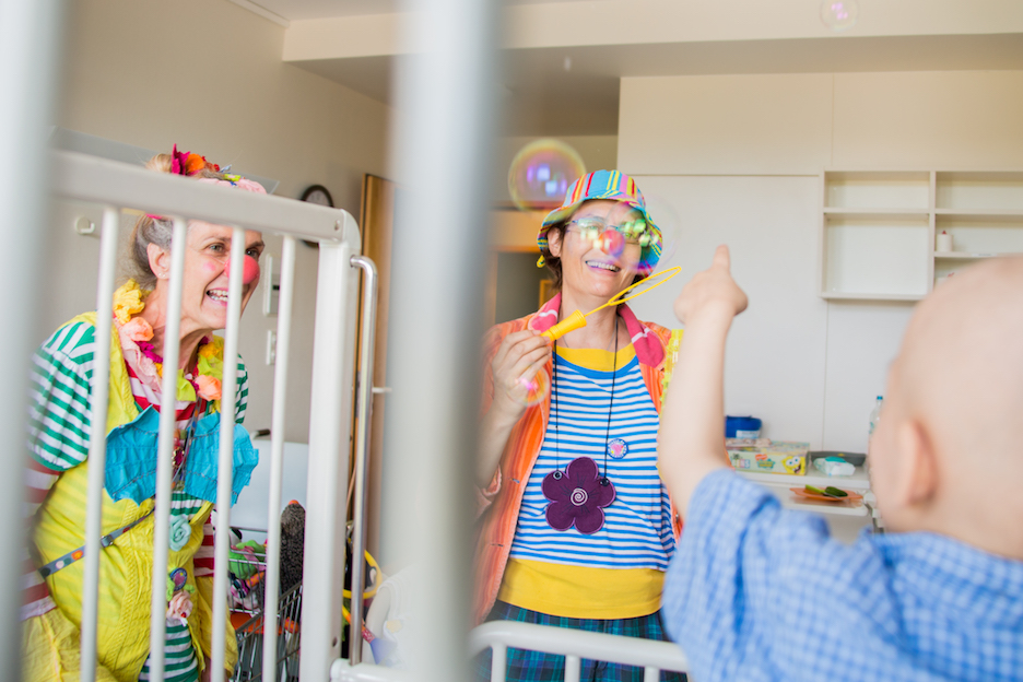 Clown Visit in Hospital