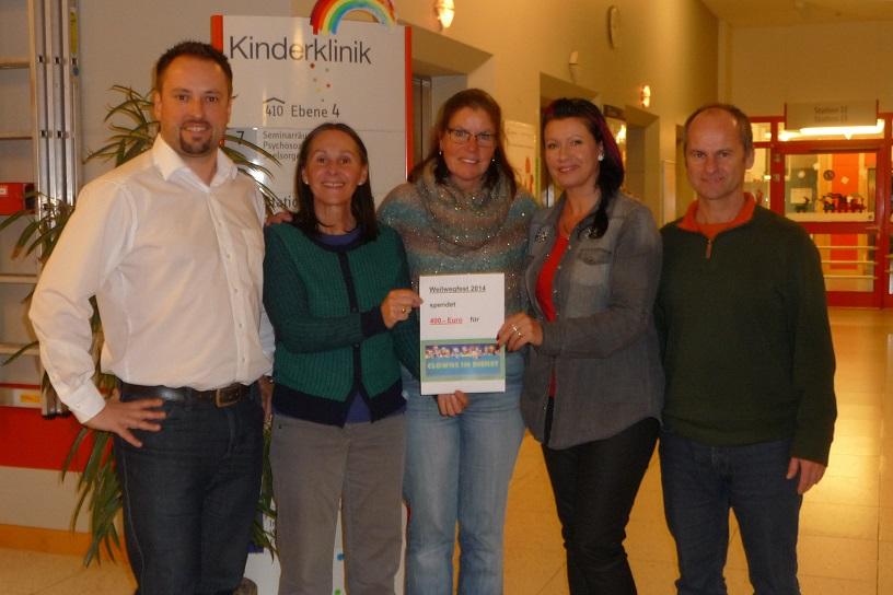 Spendenübergabe Weilwegfest Sickenhausen