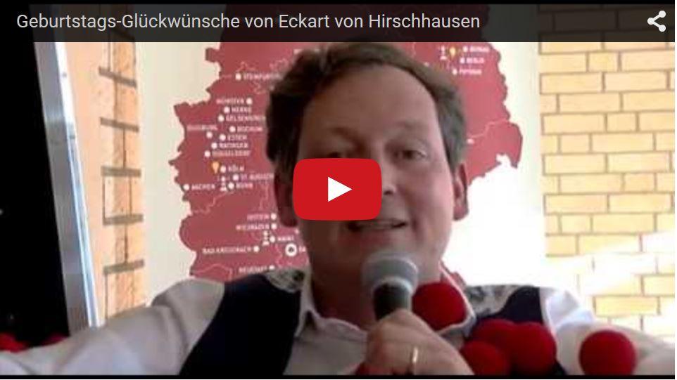 Glückwunsch-Video von Eckart von Hirschhausen
